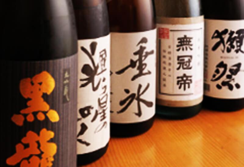 蒲田の寿司屋、寿し徳はおいしいお寿司や料理にあう日本酒をご用意